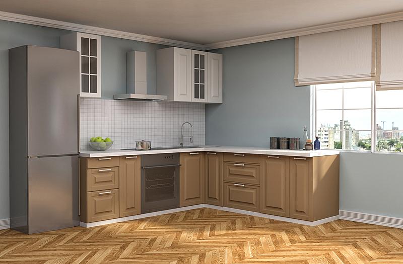 室内,三维图形,厨房,绘画插图,窗户,住宅房间,褐色,水平画幅,形状,建筑