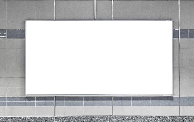 布告栏,空白的,市场营销,地铁,地下的,电动扶梯,车站,布告,帆布