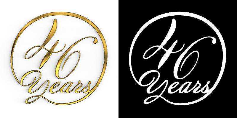 黄金,数字,数字40,数字6,周年纪念,请柬,事件,现代,德国语言,节日