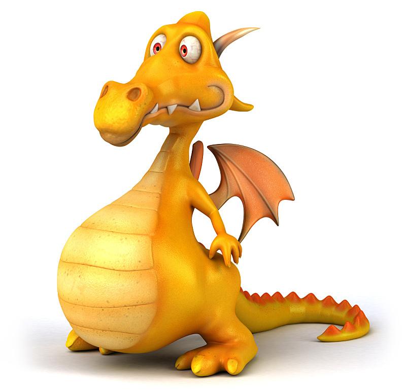 龙,乐趣,水平画幅,形状,绿色,橙色,绘画插图,动物身体部位,翅膀,卡通