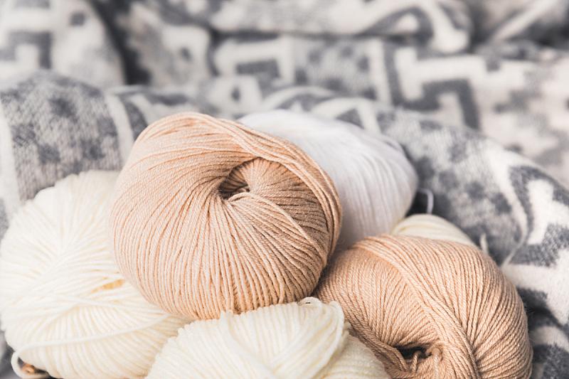 球体,毯子,羊毛,背景,水平画幅,机织织物,无人,工艺品,白色,毛绒绒