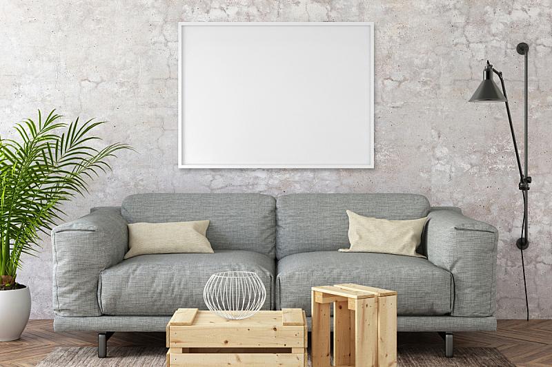 围墙,轻蔑的,室内,正下方视角,潮人,背景,帆布,画布,相框,扶手椅