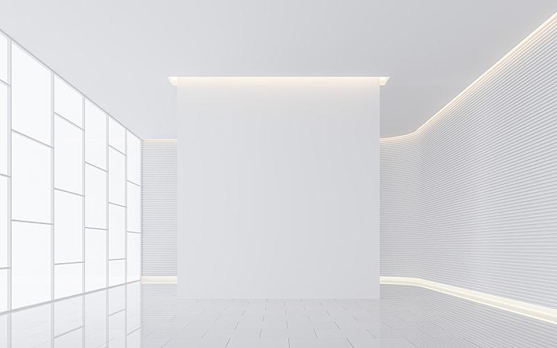 白色,室内,现代,太空,空的,住宅房间,图像,三维图形,会议室,度假胜地
