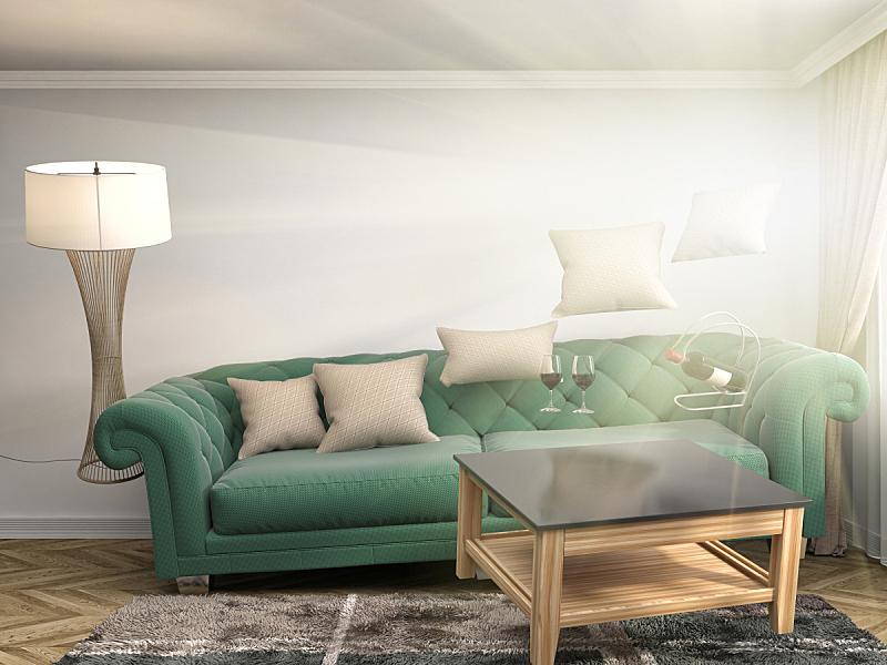 沙发,绘画插图,起居室,三维图形,水平画幅,无人,家具,俄罗斯,现代,两翼昆虫