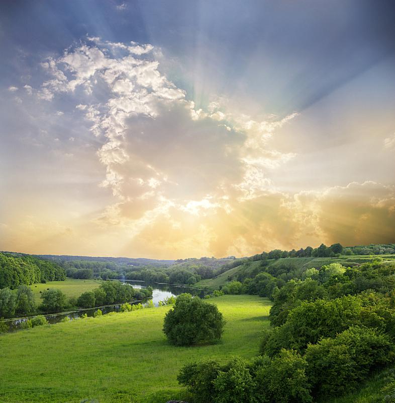 地形,垂直画幅,天空,无人,夏天,户外,草,云景,彩色图片,山