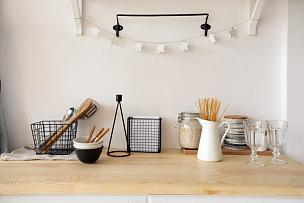 餐具,厨房,家具,多样,简单,现代,围裙,设备用品,装饰物,贮藏室