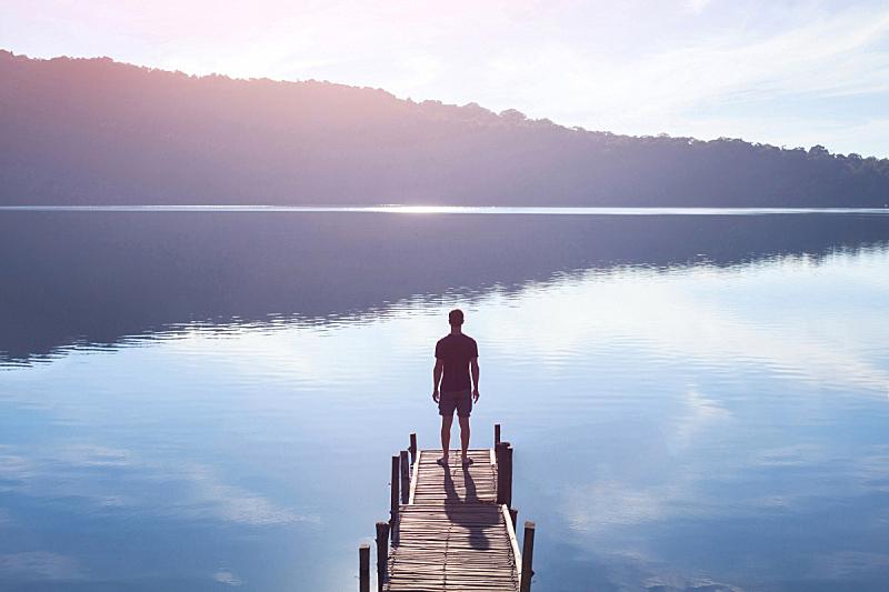 码头,力量,男人,概念,人,人脑,灵性,自然,心理健康