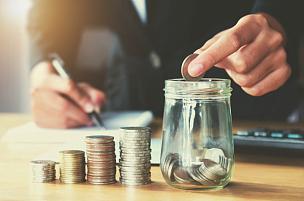 金融,商务,手,概念,玻璃,水壶,救球,女人,放置