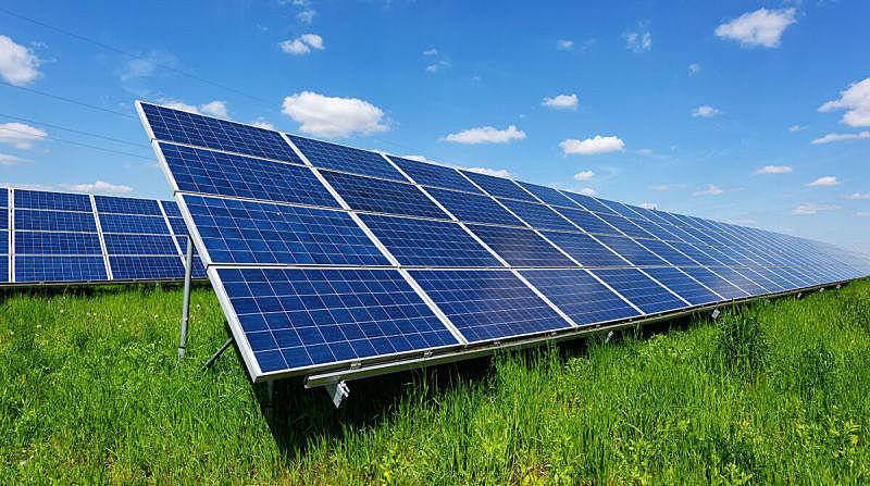 天空,太阳能电池板,蓝色,背景,垂直画幅,新的,水平画幅,能源,户外,干净
