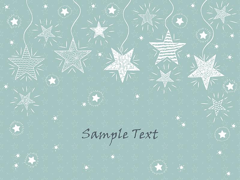 星形,乱画,绘画插图,贺卡,闪亮的,矢量,手,模板,节日,绘制