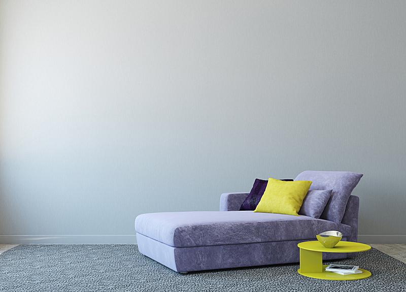 起居室,极简构图,正面视角,住宅房间,灰色,座位,水平画幅,形状,无人,装饰物