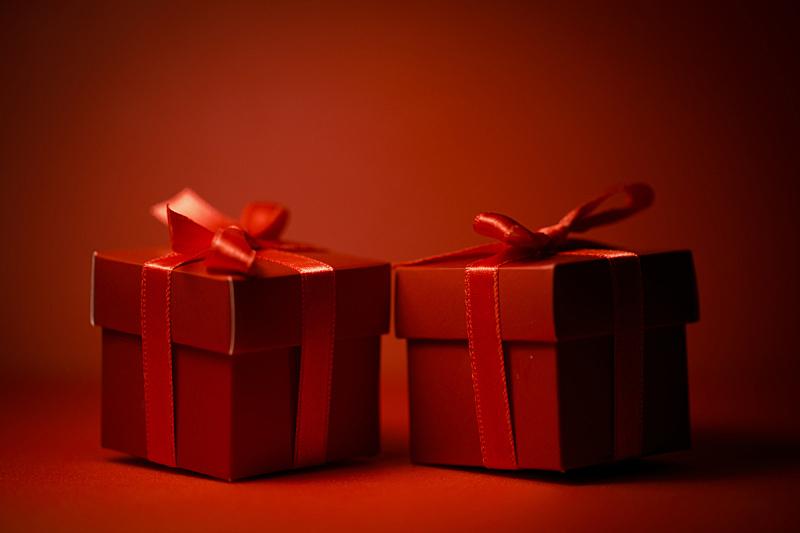 包装纸,水平画幅,无人,蝴蝶结,情人节,盒子,生日,圣诞礼物,顶部