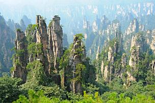 张家界,风景,中国,武陵源,湖南省,喀斯特,自然,悬崖,水平画幅,无人