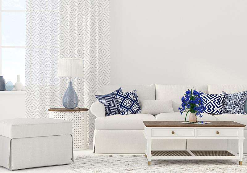 室内,起居室,软垫,装饰物,蓝色,住宅内部,高雅,枕头,华贵