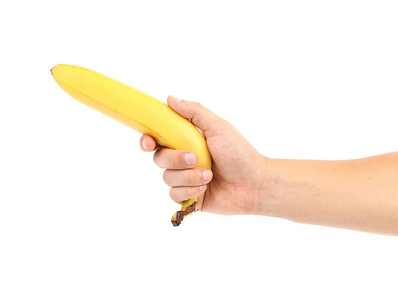 香蕉,动物手,拿着,水平画幅,素食,无人,维生素,热带雨林,图像,特写