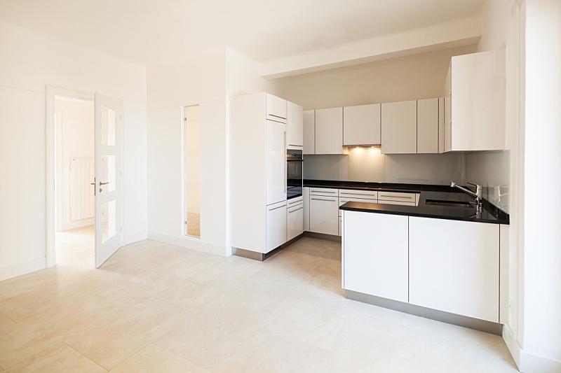 室内,空的,厨房,烤炉,留白,住宅房间,水平画幅,无人,冰箱,房屋