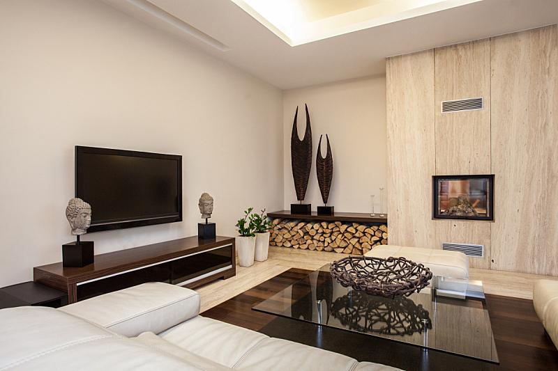 房屋,起居室,石灰华池,住宅房间,桌子,水平画幅,无人,色彩鲜艳,房地产,公寓