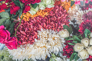 玫瑰,柔和色,花纹,情人节,选择对焦,水平画幅,组物体,特写,花束,白色