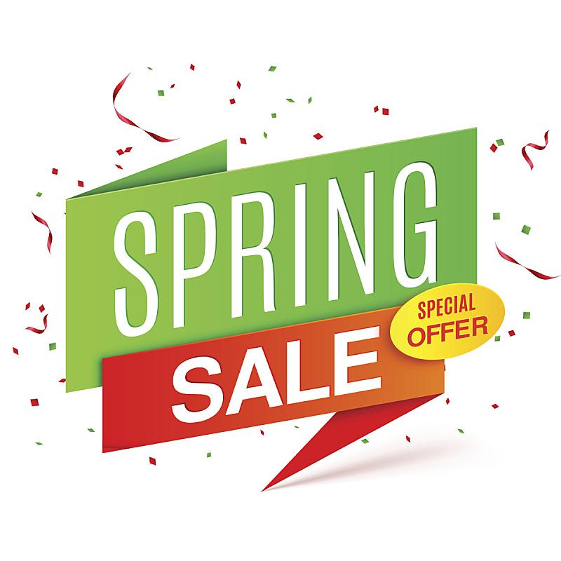 春天,奖丝带,销售职位,公告信息,零售行业职位,绘画插图,商店,传单,市场营销