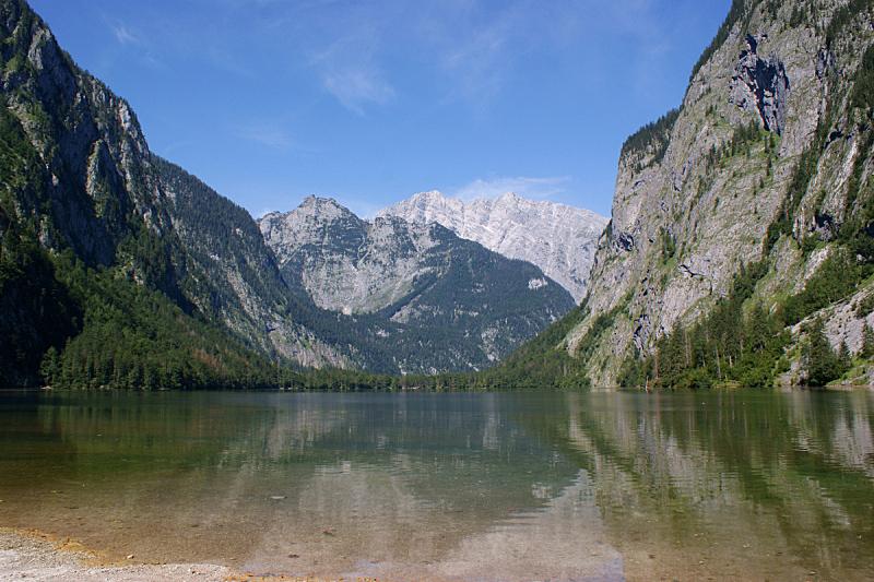 湖,围墙,瓦茨曼山,东,自然,水,天空,贝希特斯加登地区,水平画幅,地形