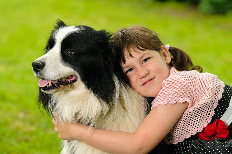 狗,女孩,衣服,美,青少年,公园,休闲活动,水平画幅,美人,夏天