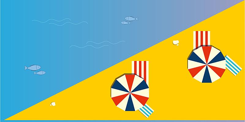夏天,海滩,顶部,风景,度假胜地,水平画幅,高视角,沙子,沙滩派对,无人