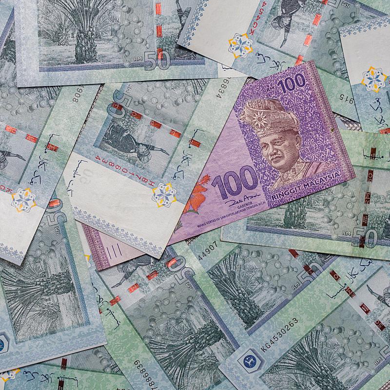 马来西亚林吉特,背景聚焦,式样,留白,银行,美元符号,马来西亚,商业金融和工业,债务,经济