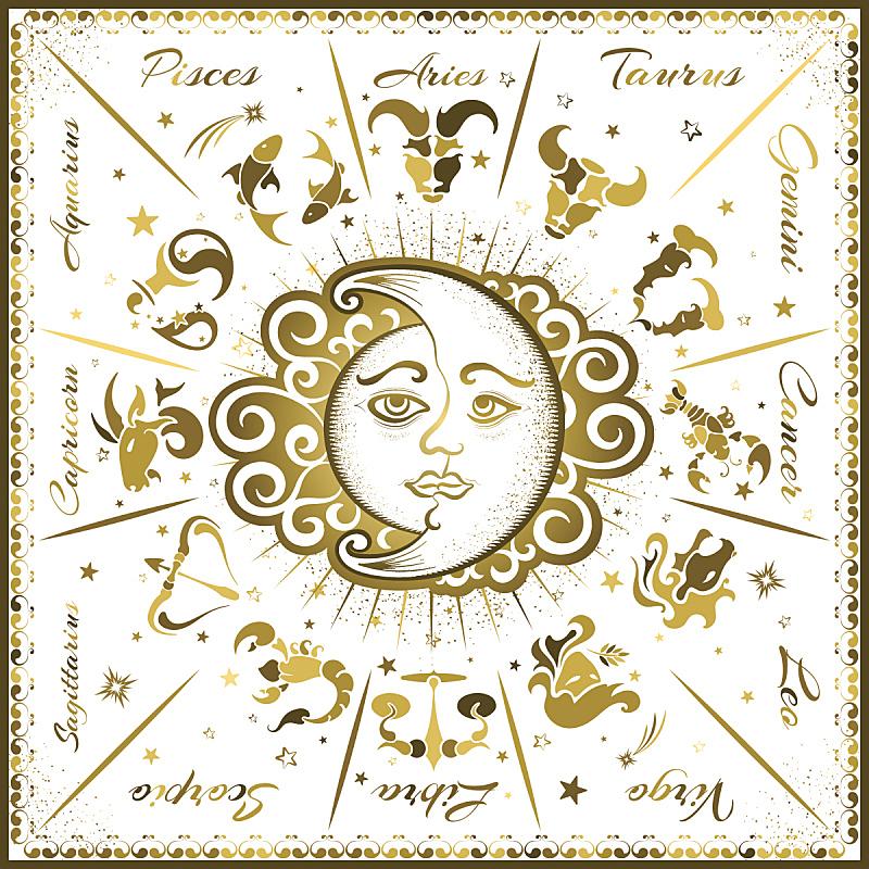 标志,慕斯提克岛,双子座,室女座,双鱼座,白羊座,天蝎座,射手座,天秤座,摩羯座