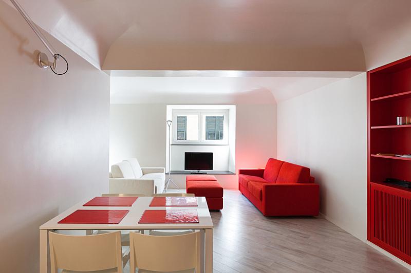 公寓,室内,自然美,新的,水平画幅,墙,透过窗户往外看,无人,椅子,天花板