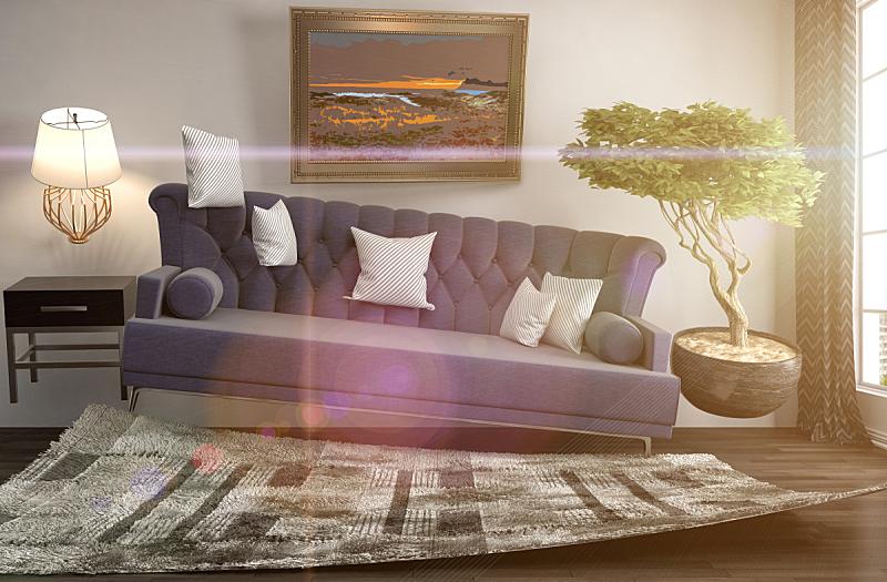 沙发,三维图形,绘画插图,起居室,地震,数字0,水平画幅,无人,家具,俄罗斯