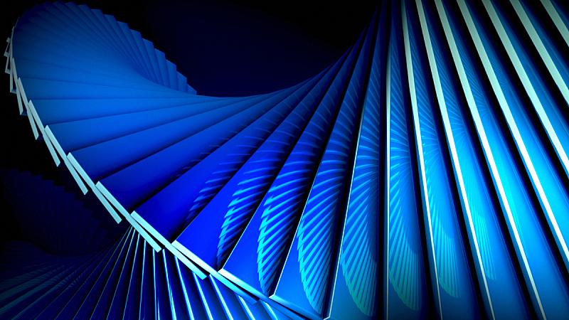 蓝色,螺线,背景,数字化显示,三维图形,建筑结构,美,未来,水平画幅,形状