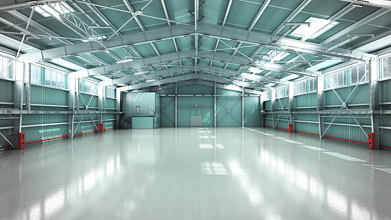 仓库,空的,绘画插图,机库,三维图形,商务,汽车,现代,建筑业,设备用品