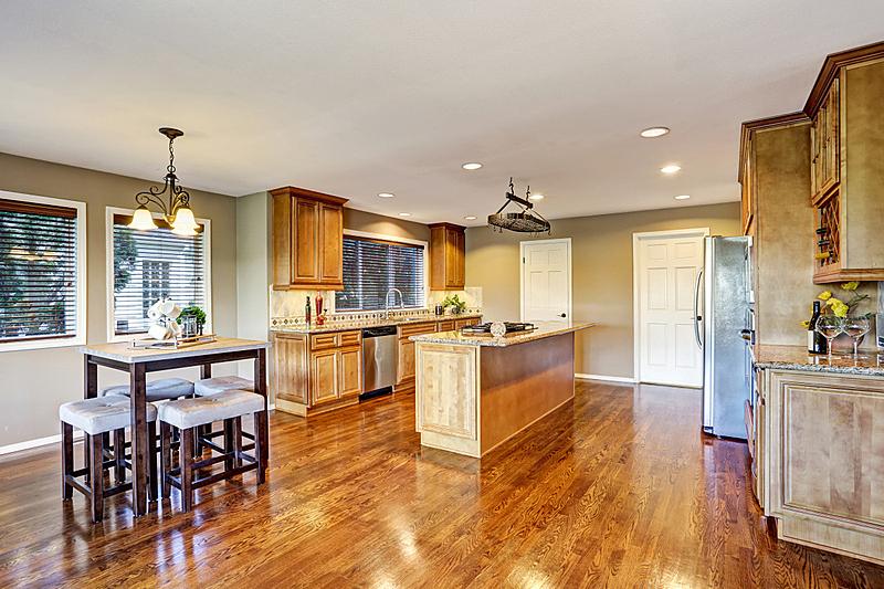 住宅房间,室内,厨房,计划书,岛,易接近性,窗户,水平画幅,吧椅,建筑