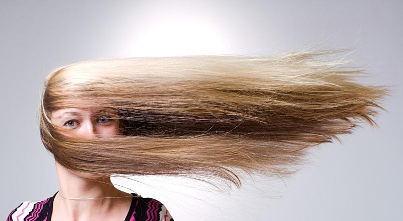 风,头发,女人,前进的道路,正面视角,长发,人的脸部,金色头发,美,彩妆