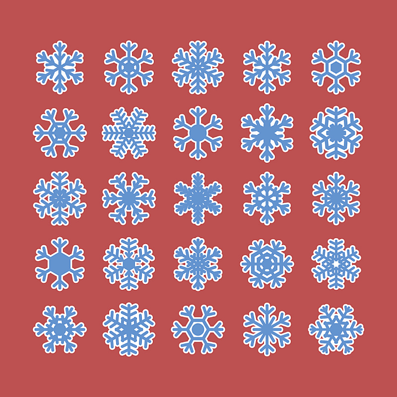 雪花,白色背景,分离着色,反差,华丽的,部分,圣诞装饰物,对称,背景分离,一月