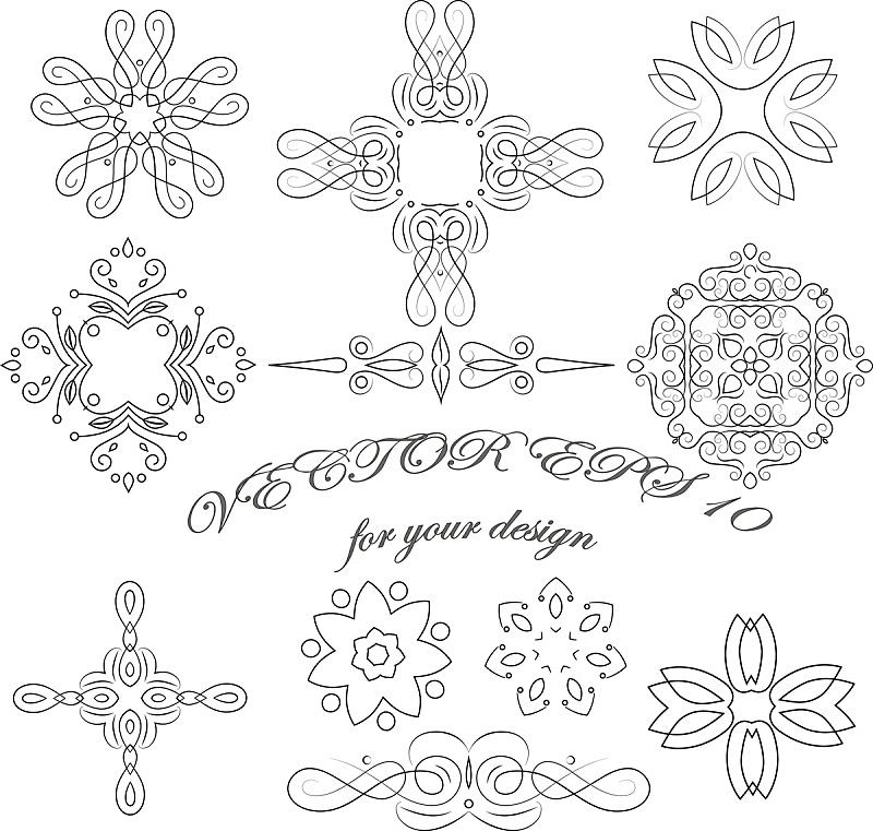 矢量,式样,抽象,创造力,蝶古巴特艺术拼贴,贴花,棉被,轮廓,远古的,符号
