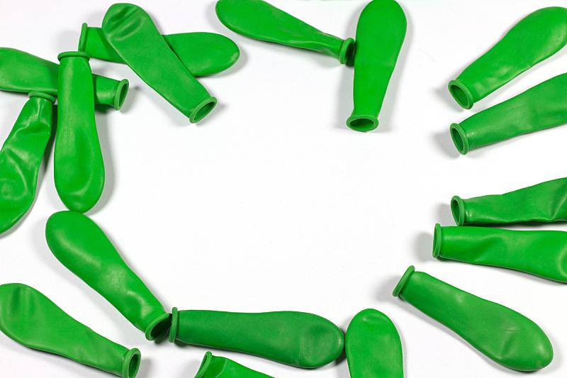 绿色,气球,水平画幅,无人,放气的,摄影