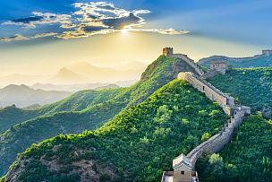 长城,古老的,旅行者,明亮,边界,山脊,国际著名景点,著名景点,风景,世界遗产