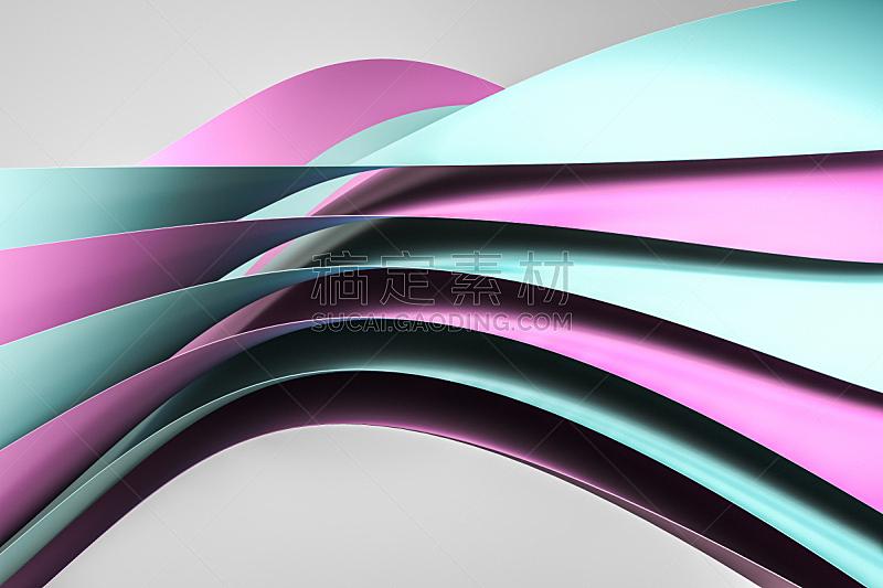 背景,三维图形,粉色,平视角,图表设计师,可爱的,视角,图表,几何形状,风