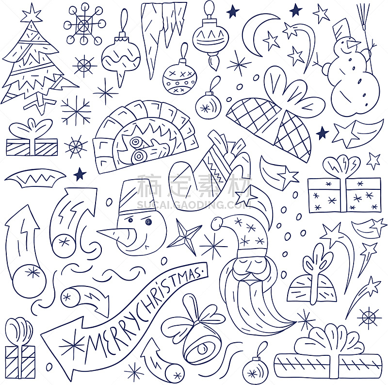 乱画,绘画插图,袜子,雪,墨水,圣诞树,计算机制图,计算机图形学,时间