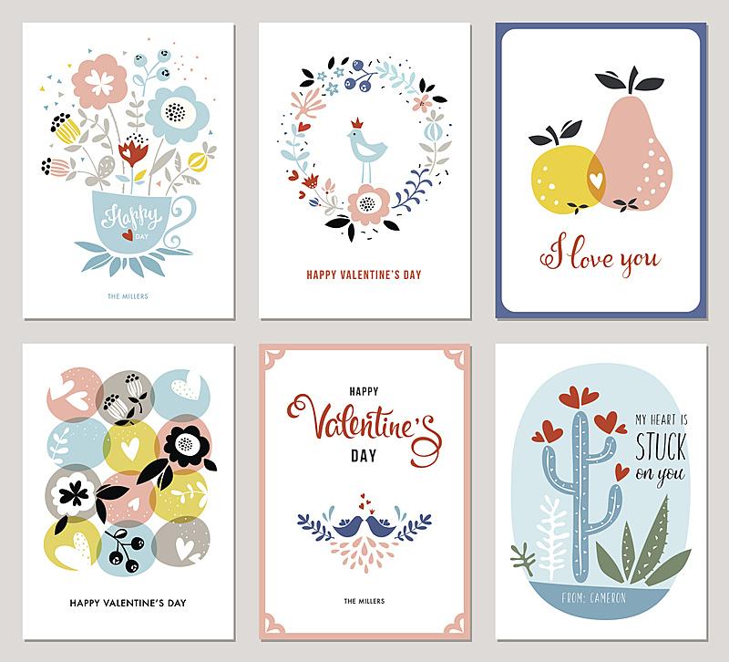 情人节卡,贺卡,我爱你,茶杯,仙人掌,情人节,可爱的,月桂花冠,园林