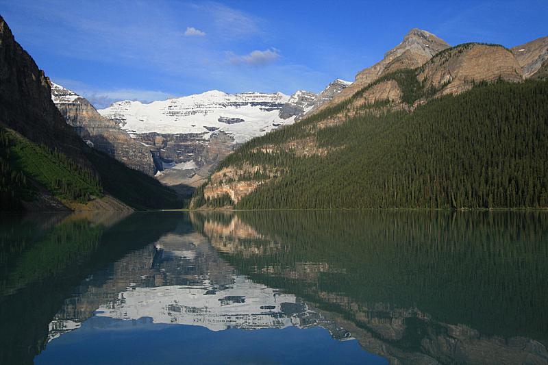 露易斯湖,早晨,victoria glacier,维多利亚山,班夫国家公园,加拿大落基山脉,洛矶山脉,国家公园,水平画幅,阿尔伯塔省