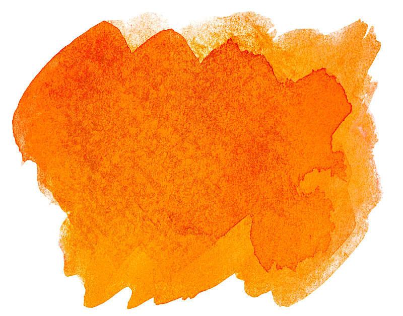 点状,橙色,白色背景,水彩画,黄色,红色,图像,涂料,计算机制图,手