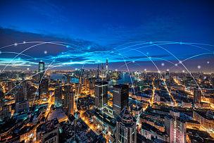 上海,都市风光,全球通讯,云景,都市风景,大数据,计算机网络,金茂大厦,黄浦江,上海环球金融中心