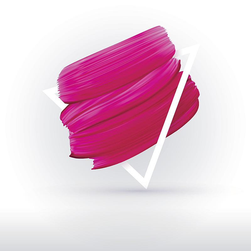粉色,边框,白色背景,口红印,分离着色,唇膏,画笔,涂料,面膜
