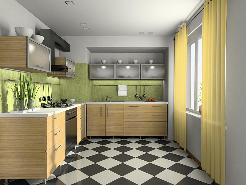 交通工具内部,现代,三维图形,厨房,薄纱网,舒服,食品,玻璃杯,橙色,长柄勺