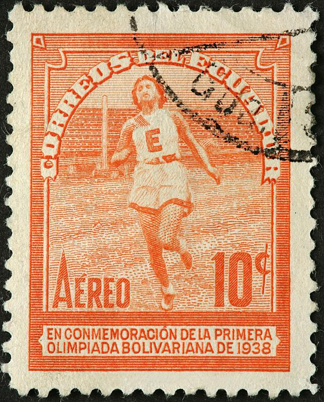 女人,厄瓜多尔,田径运动员,1938,运动跑道,垂直画幅,竞技运动,短跑,古典式,田径赛
