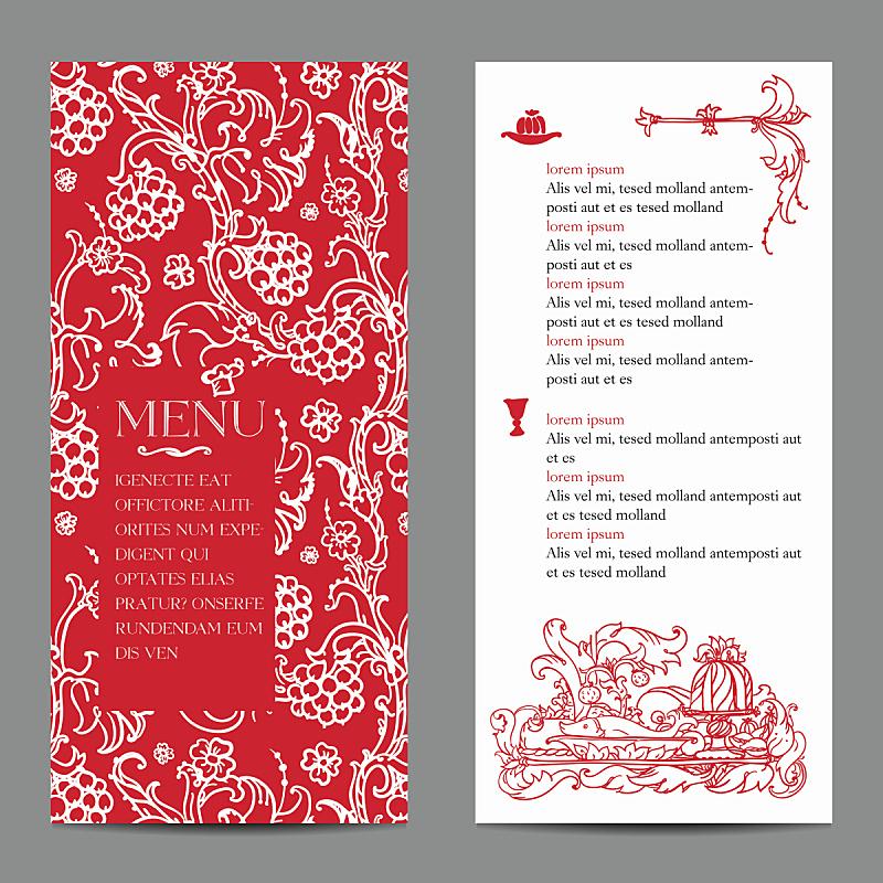 菜单,餐馆,标签,式样,周年纪念,食品,模板,餐具,甜点心,背景