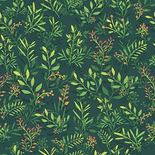 花纹,背景,叶子,浆果,嫩枝,纺织品,绘画插图,古典式,夏天,仅一朵花