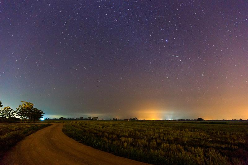 天空,流星,梵高星空,自然,太空,水平画幅,地形,夜晚,无人,科学